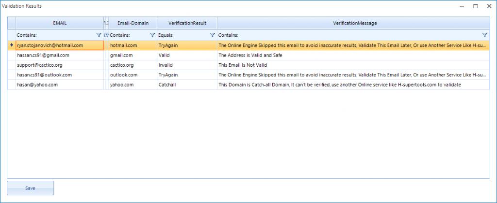 super email validator results