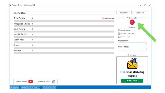 Super email validator port 25