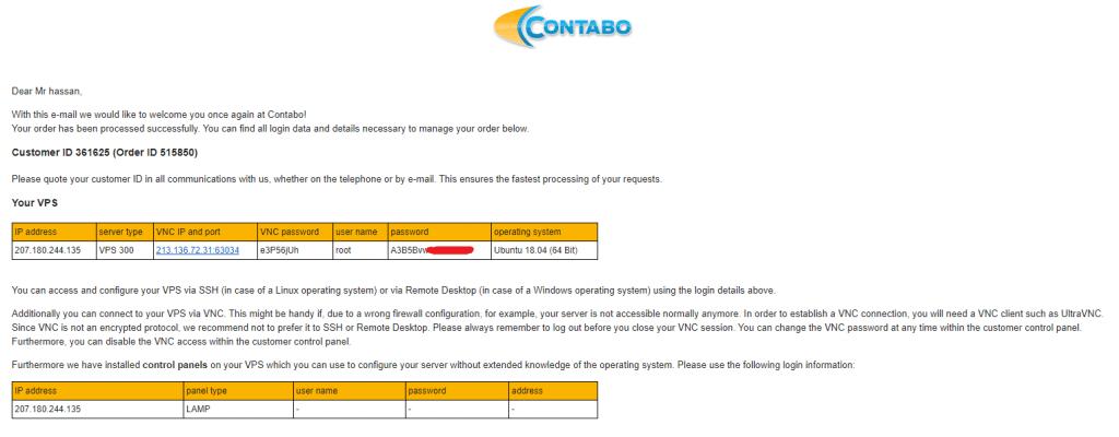 Install WordPress on Contabo VPS