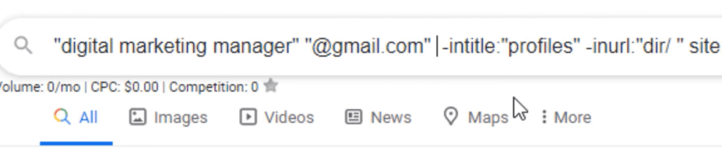 email scraping