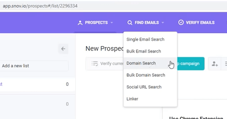 snov.io email scraping