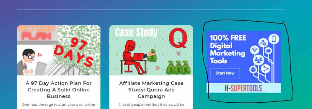 affiliate marketing business through banner