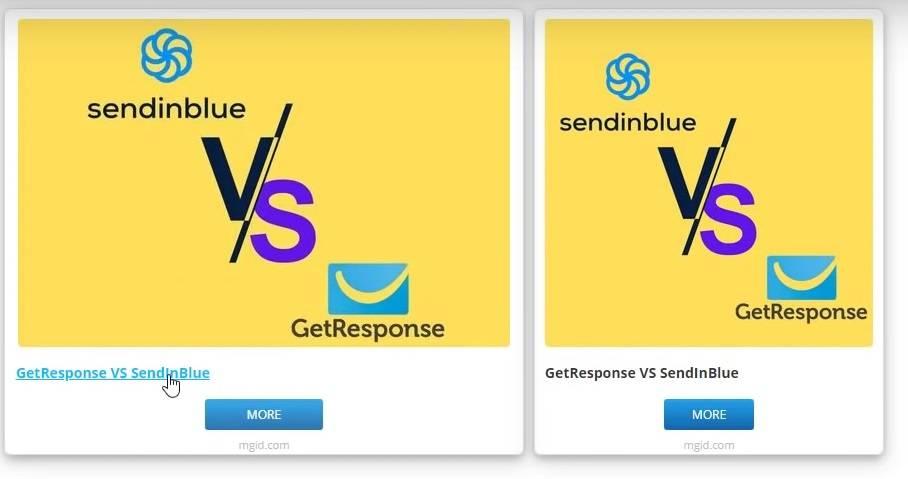 the sendinblue and getresponse ad