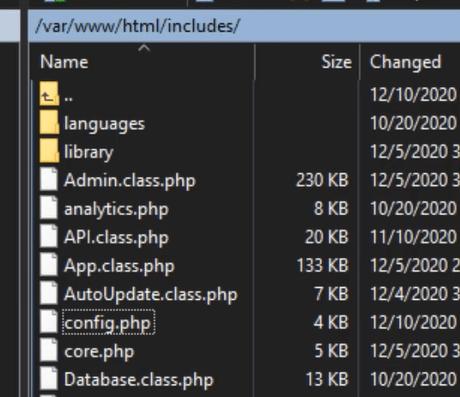 change config file