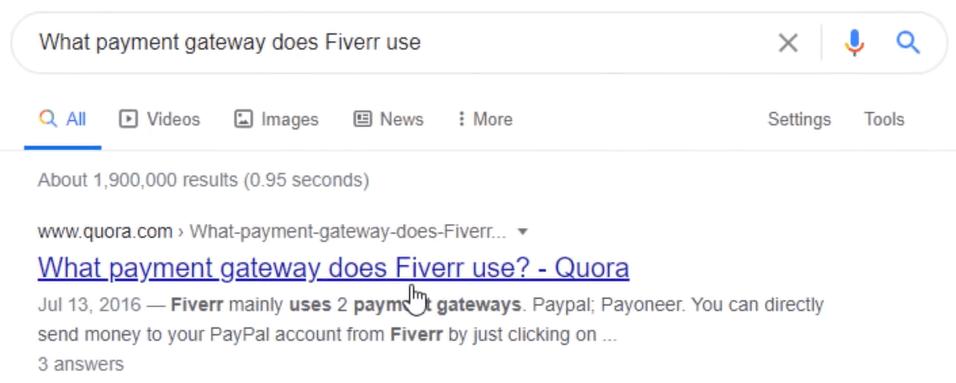 quora ranking on google